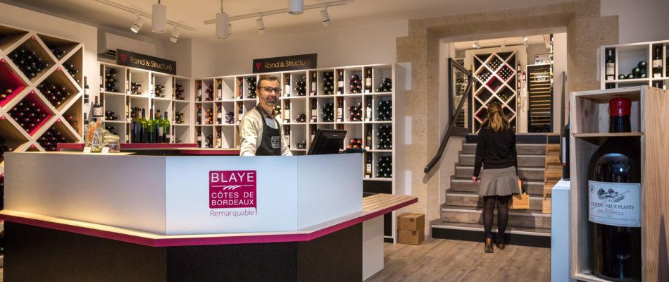 vin blaye boutique bouteille commerce