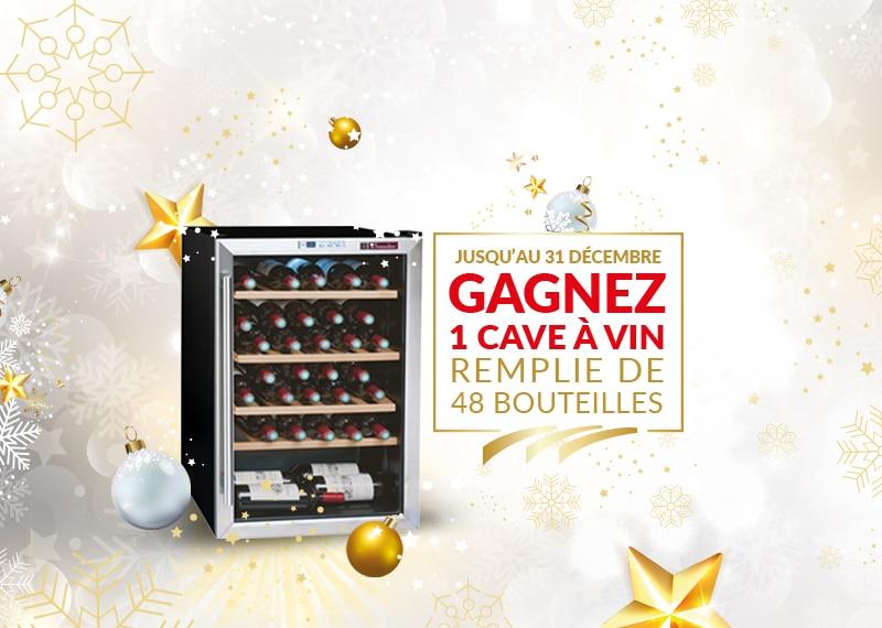 Un Noël inoubliable : Gagnez une cave à vin remplie de 48 bouteilles de blaye côtes de bordeaux !